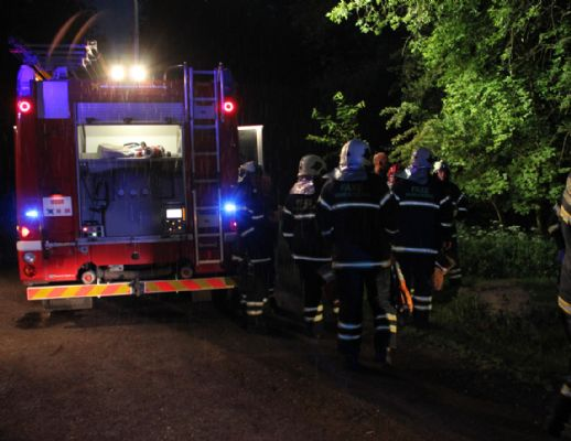 Brand i Faxe Ladeplads i aften